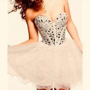 Sherri Hill mini dress with crystal bodice